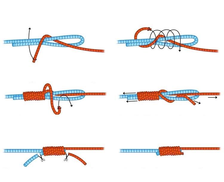 Как вязать стопорный узел на основной леске