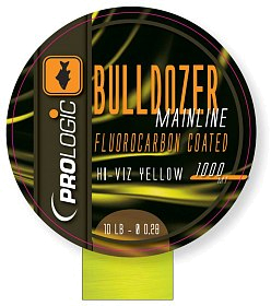 Леска Prologic Bulldozer FC coated mono 1000м 15lbs 0.33мм fluo yellow