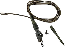 Оснастка Prologic Safetly clip QC swivel hollow leader 80cm 45lbs 3шт