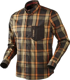 Рубашка Harkila Amlet shadow brown check