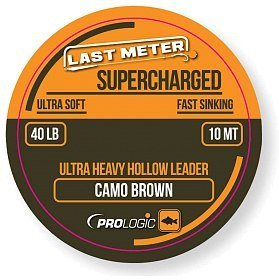 Лидкор Prologic Supercharged hollow leader 10м 40lbs camo brown
