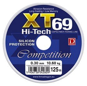 Леска Dragon XT69 Hi-Tech competition 125м 0.30мм 10.60кг