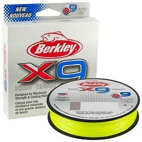 Шнур Berkley X9 fluro green 150м 0,20мм