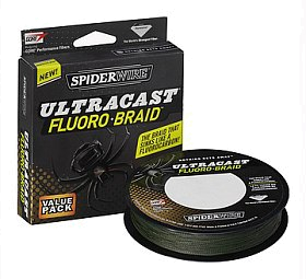 Шнур Spiderwire fluorobraid green 110м 0,15мм