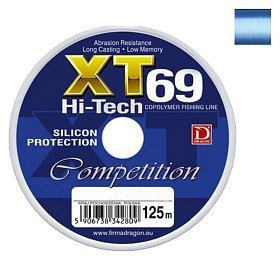 Леска Dragon XT69 Hi-Tech competition 125м 0.40мм синяя