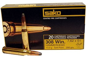 Патрон 308Win Sako 13,0 Hammerhead SP