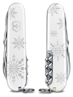 Нож Victorinox Explorer white christmas 16 функций белый
