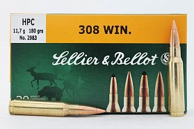 Патрон 308Win Sellier&Bellot 11.7 HPC 1/20