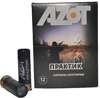 Патрон 12х70 Азот Практик картечь 8,5мм 1/25/250 купить в интернет-магазине «Мир охоты»